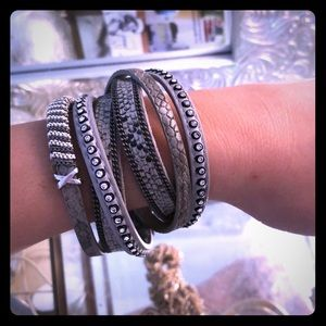 Jewelry - Snakeskin Embellished NWOT Layered Bracelet